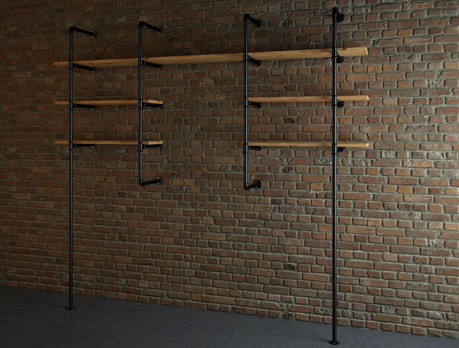 Industrial Style Industrial Style Pipe Shelves Free 3d Model Max Cgtrader