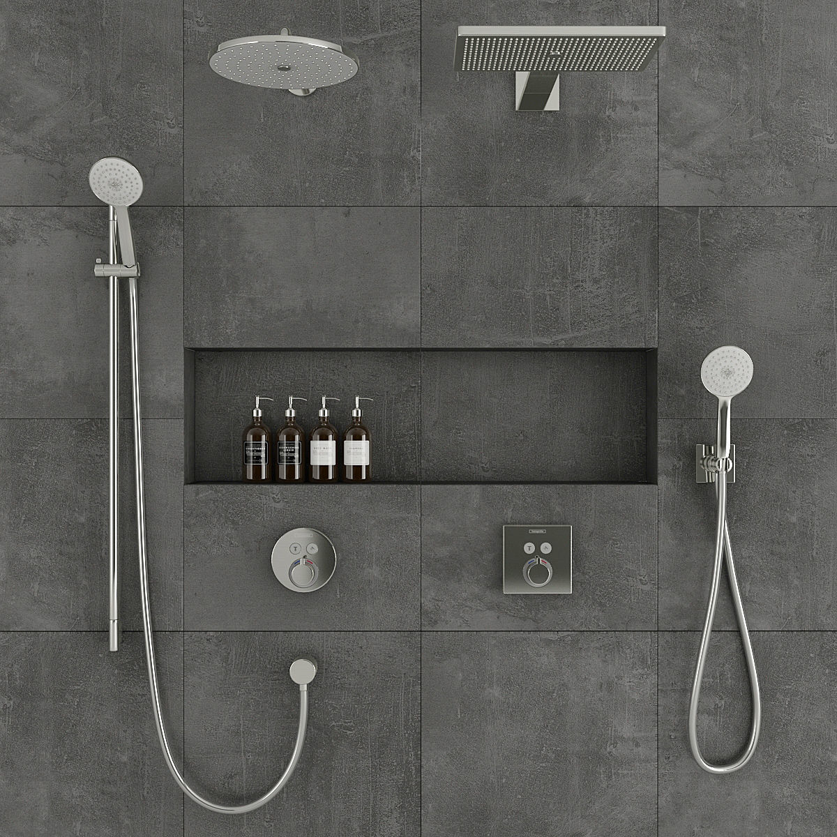Hans Grohe Hansgrohe Shower System 3d Model