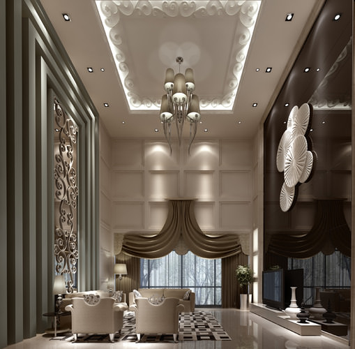 3d Luxury Hall Cgtrader