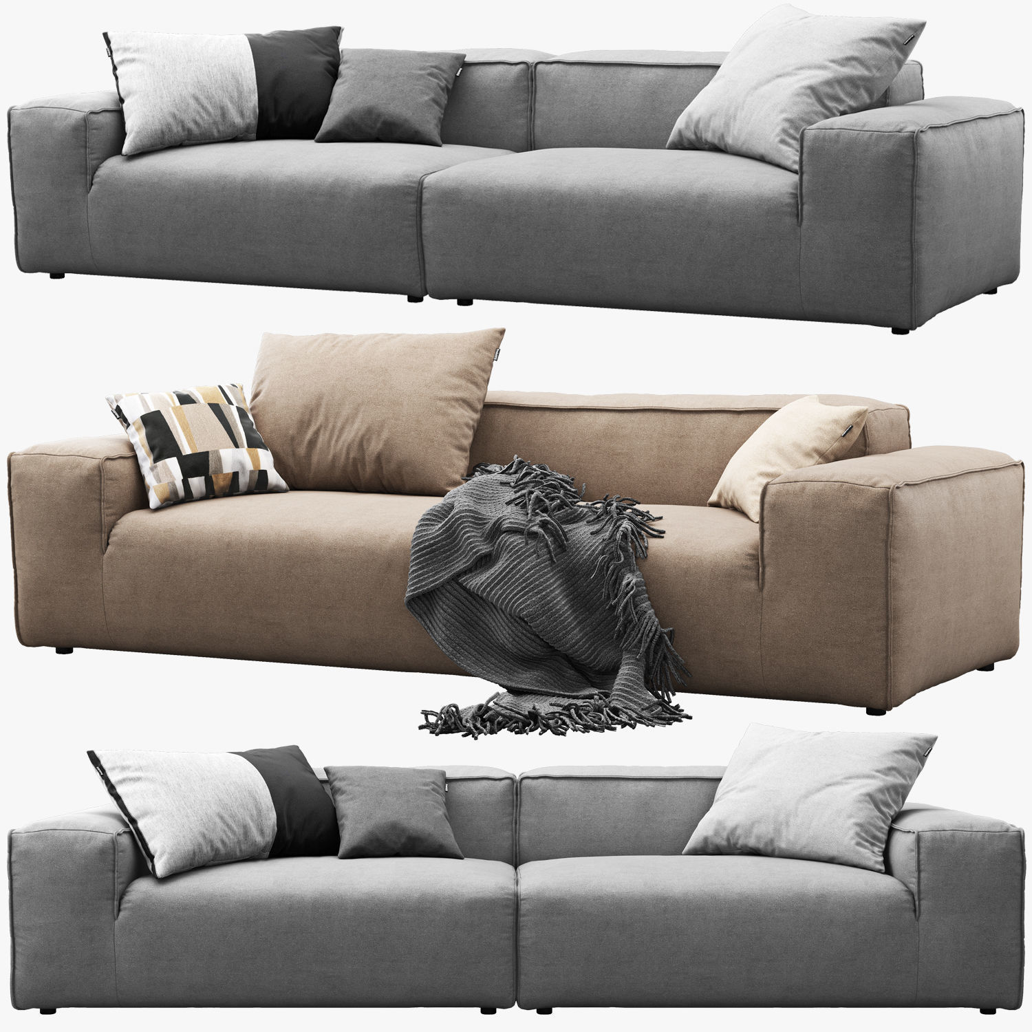 Freistil Sofa Rolf Benz Freistil 175 Modular Sofa Set 1 3d | Cgtrader