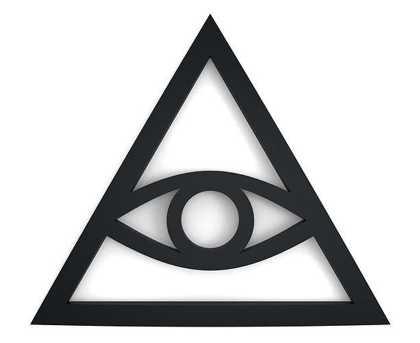 Om 3d Wallpaper Download Illuminati Sign Free 3d Model 3d Printable Stl Cgtrader Com