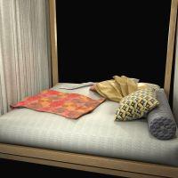 Custom made daybed lounge 3D Model MAX OBJ 3DS FBX ...