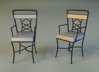 Chair metal kitchen 3D Model MAX OBJ 3DS FBX MTL ...