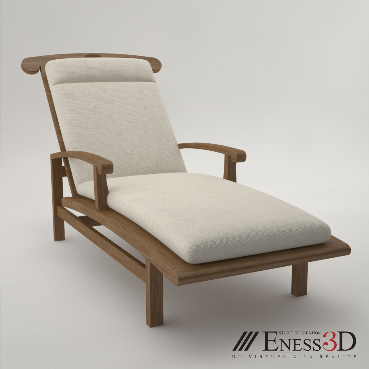 Pro Lounge Long Chair Fc257 3d Cgtrader