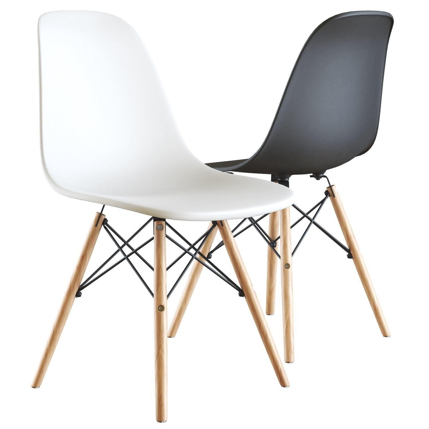 Dsw Eames Stuhl 3d Model Eames Style Dsw White Chair | Cgtrader
