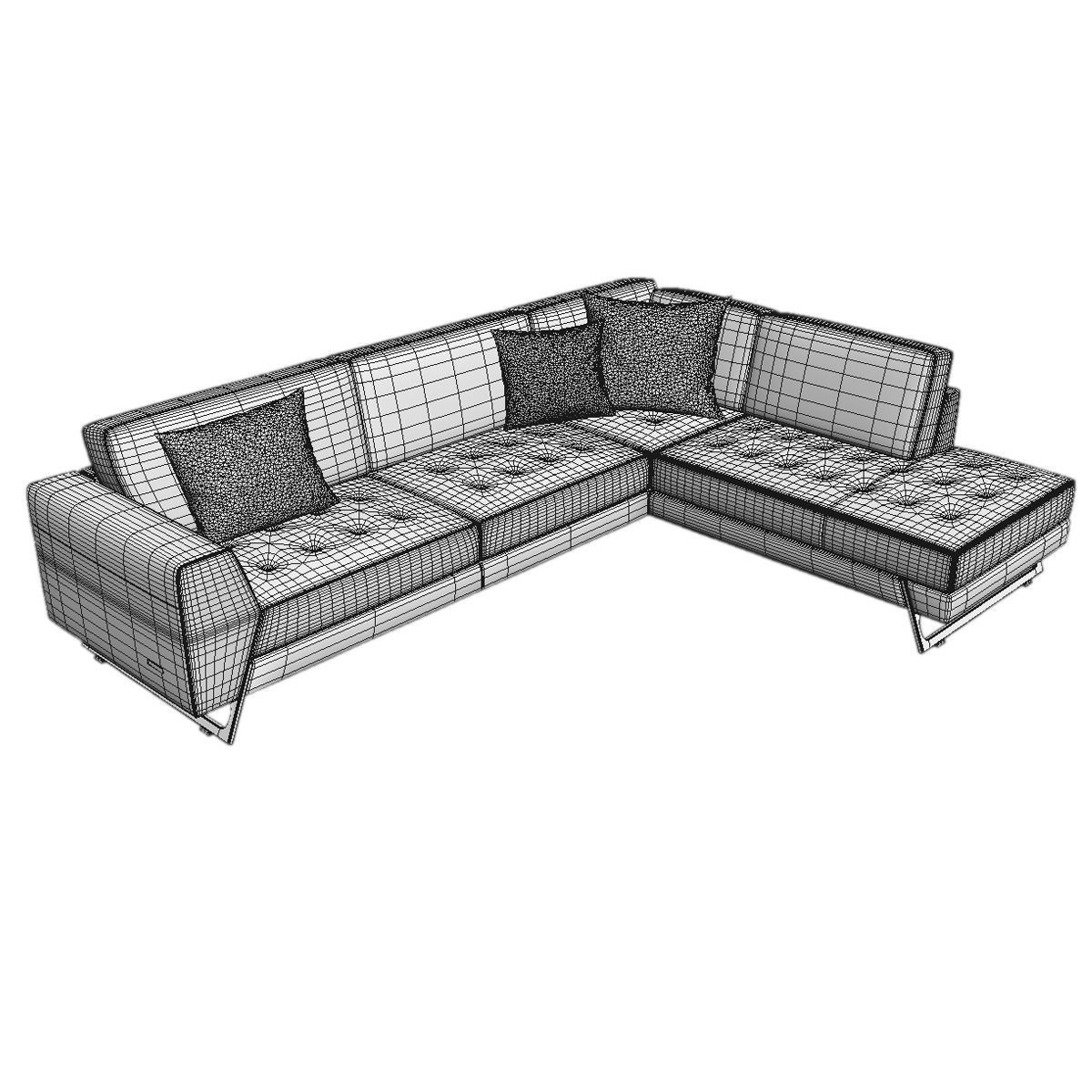 Kanapee Sofa Couch Roche Bobois Satelis Canape Sofa And Armchair Free 3d