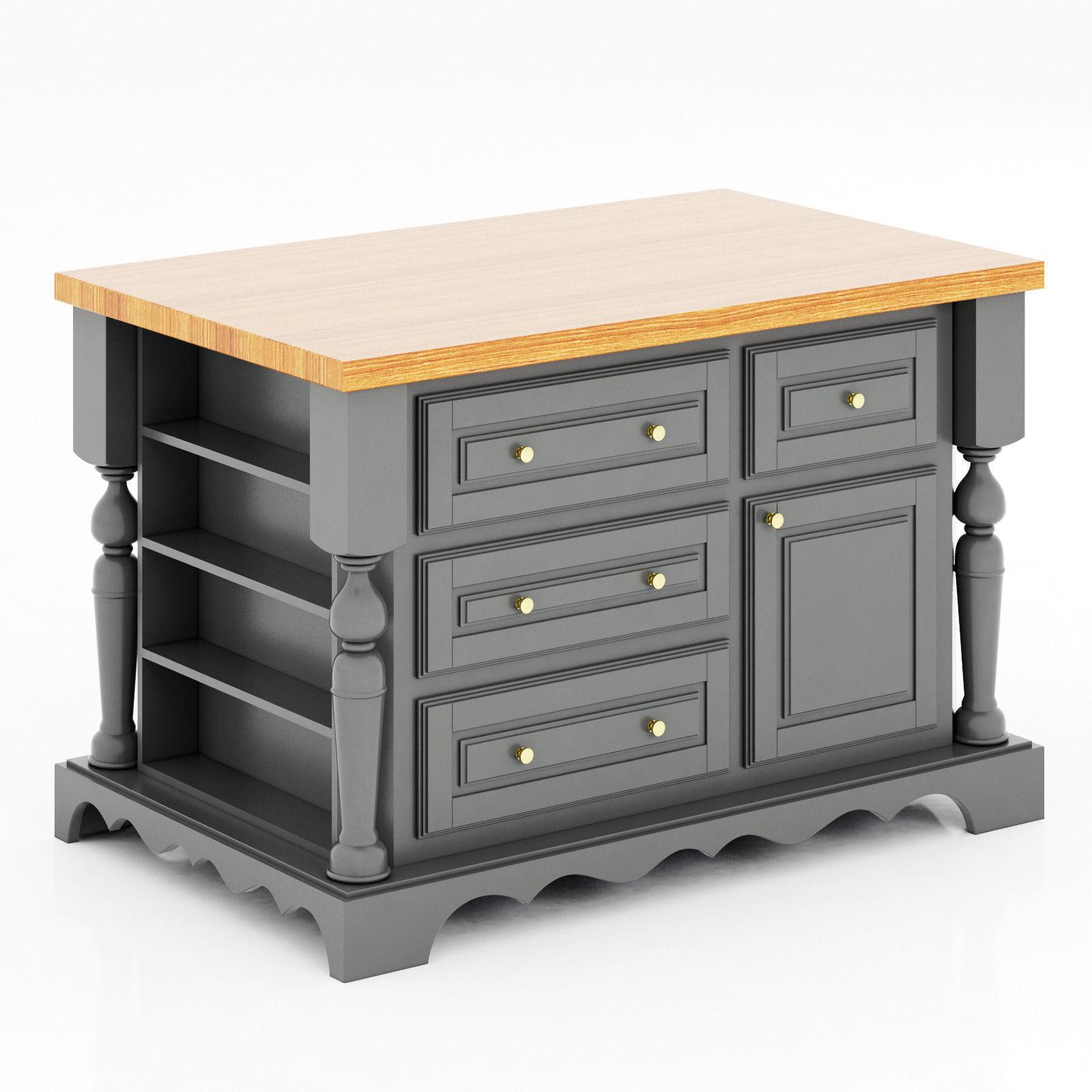 Lyn design kitchen island 3d model max obj 3ds fbx mtl 1