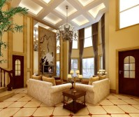 Luxurious Living Room With Big Painting 3D model