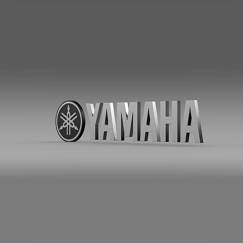 3d Yamaha Motorcycle Wallpaper Yamaha Logo 3d Model Cgtrader