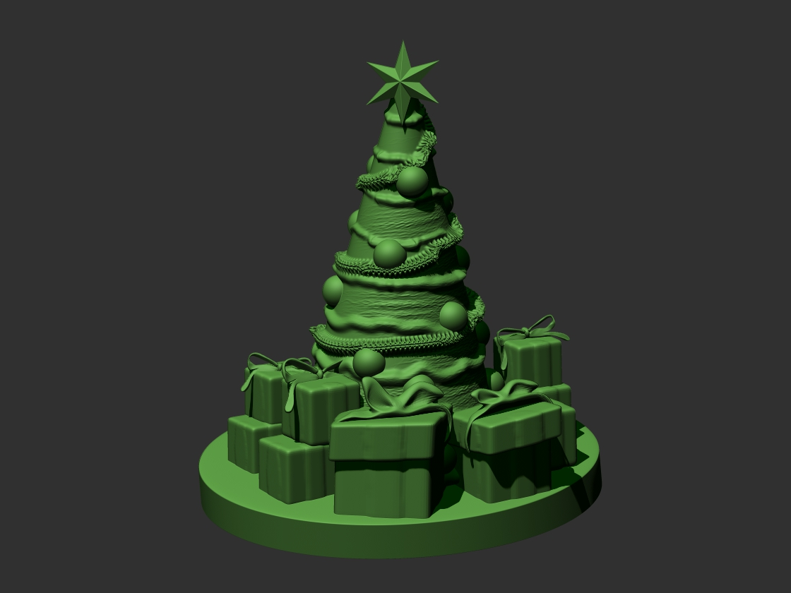 Navidad Wallpaper 3d Christmas Tree 3d Model 3d Printable Stl Cgtrader Com