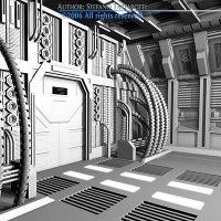 Science-fiction door 3D model | CGTrader