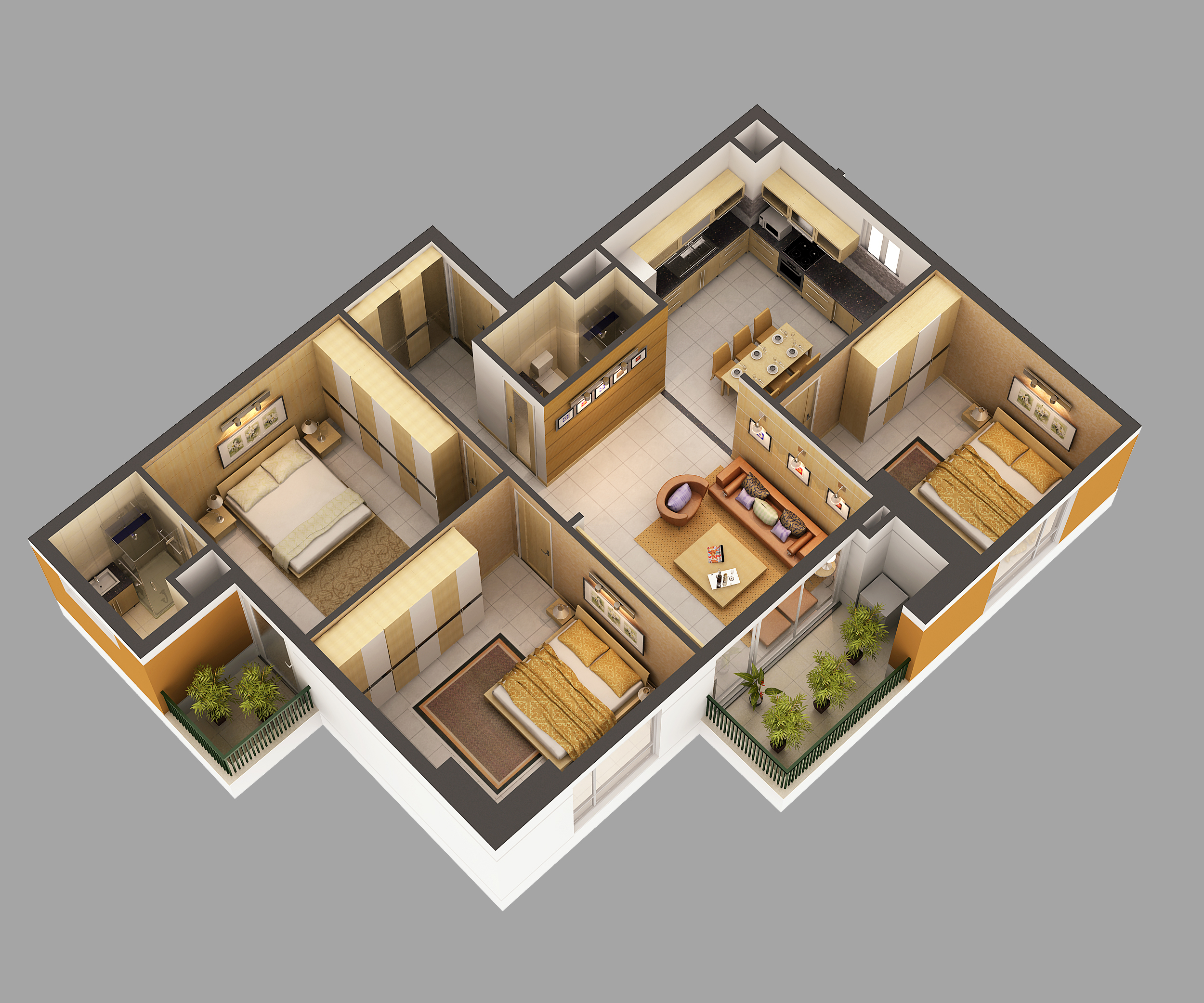 3d Home 3d Model Home Interior Fully Furnished 3d Model