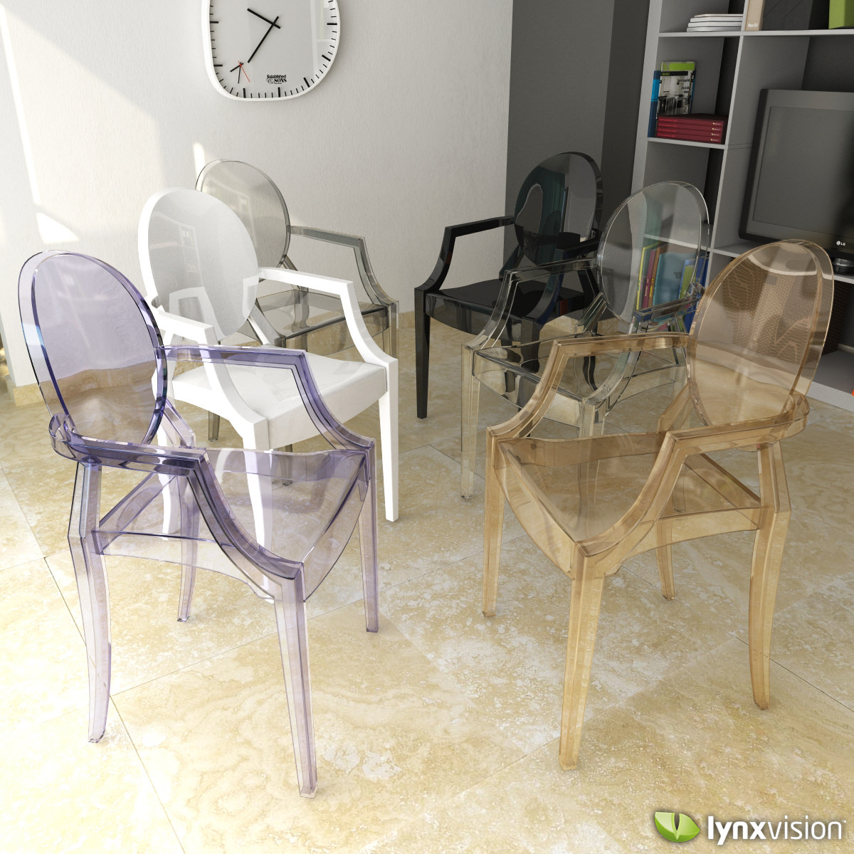 Philippe Starck Ghost Chair Louis Ghost Armchair By Philippe Starck 3d Model
