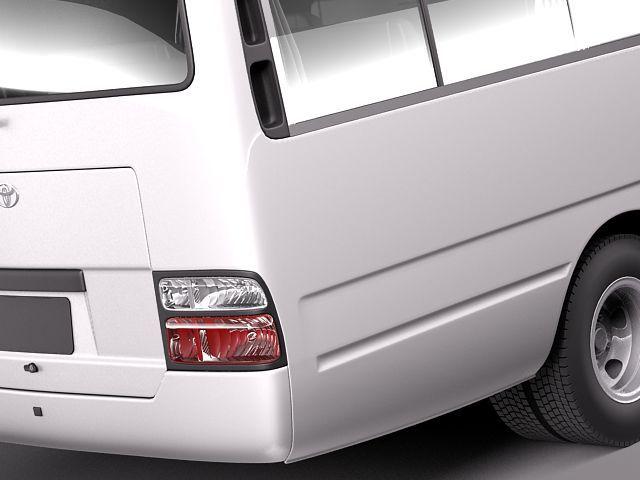toyota coaster 2012 minibus 3d model 3d model max obj 3ds fbx c4d lwo lw lws