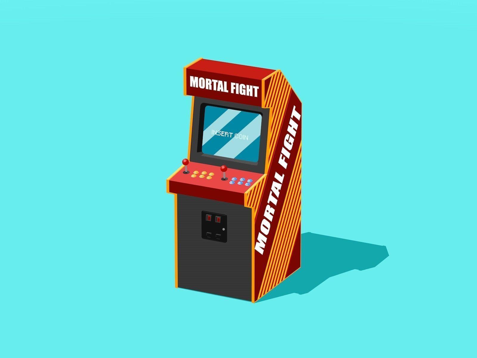 3d Wallpaper Printing Machine 3d Model Arcade Machine 1 Vr Ar Low Poly Obj 3ds Fbx
