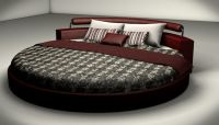 Round Bed 3D Model C4D