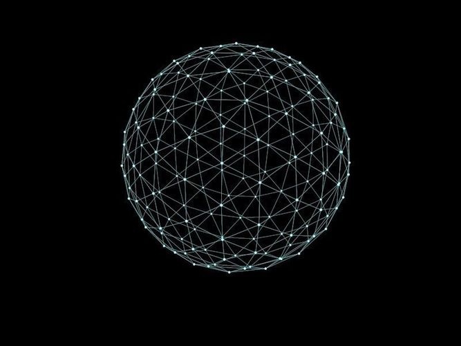 Hologram Wallpaper 3d 3d Asset Low Sphere Array Cgtrader