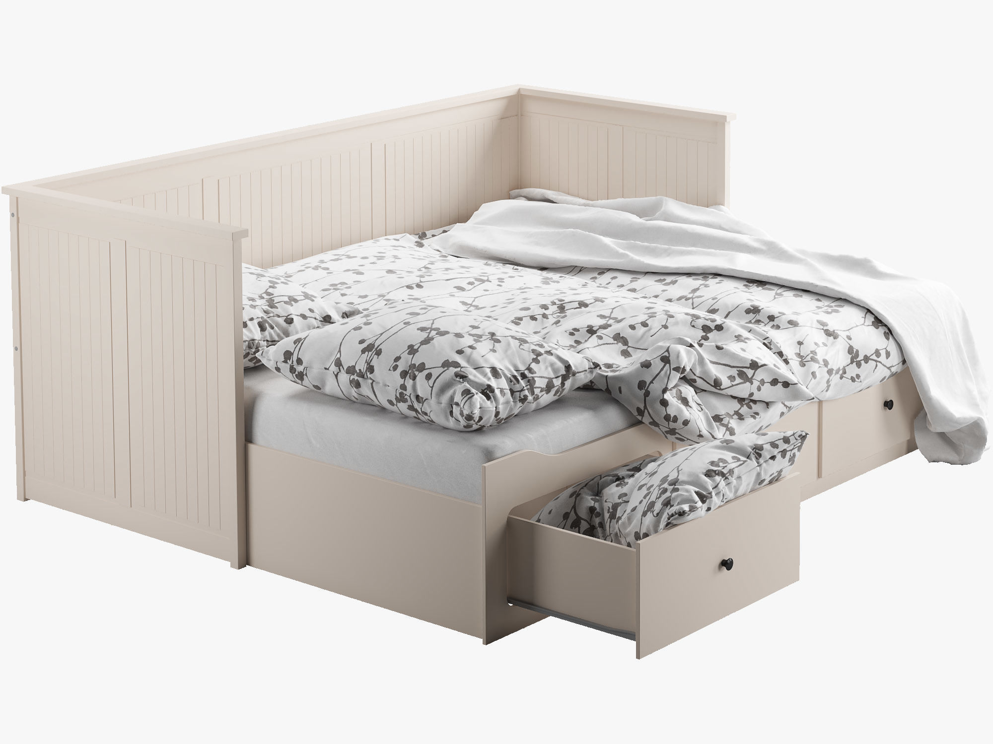 Ikea Bettbank Best Ikea Hemnes Bed D Model Max Obj Ds Fbx Mtl With