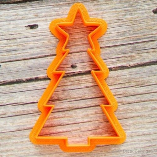 Christmas tree with a big star cookie cutter for professional 3D