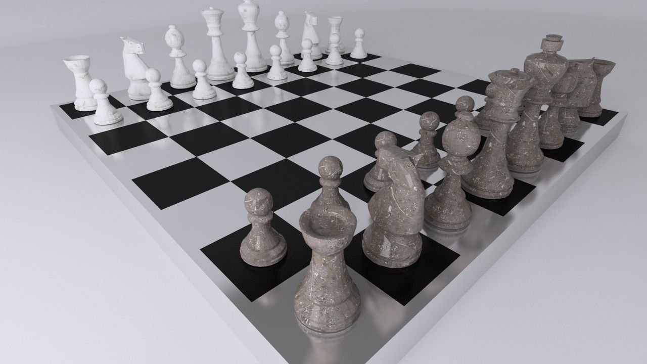Chess Table Chess Table 3d Model