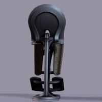 3D model Futuristic ergonomic pilot seat VR / AR / low ...
