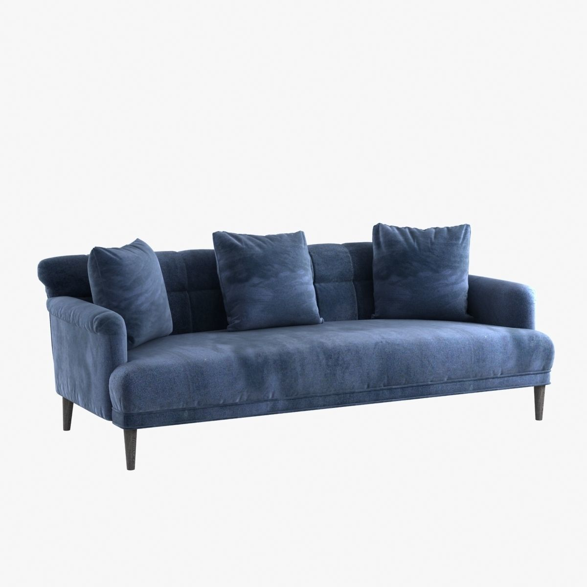 Made Sofa Velvet Custom Made Blue Velvet Sofa With Pillows 3d Model