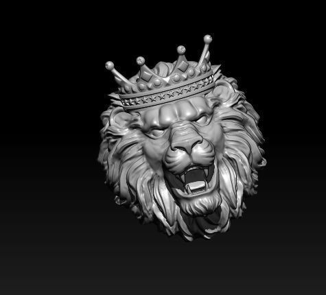 Rhino 3d Wallpaper 3d Printable Model Lion Ring With Crown Cgtrader