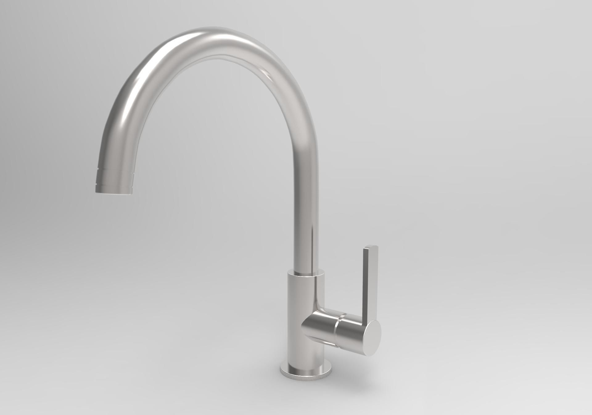 Kitchen Mixer Tap Single Lever Kitchen Mixer Tap 3d Model