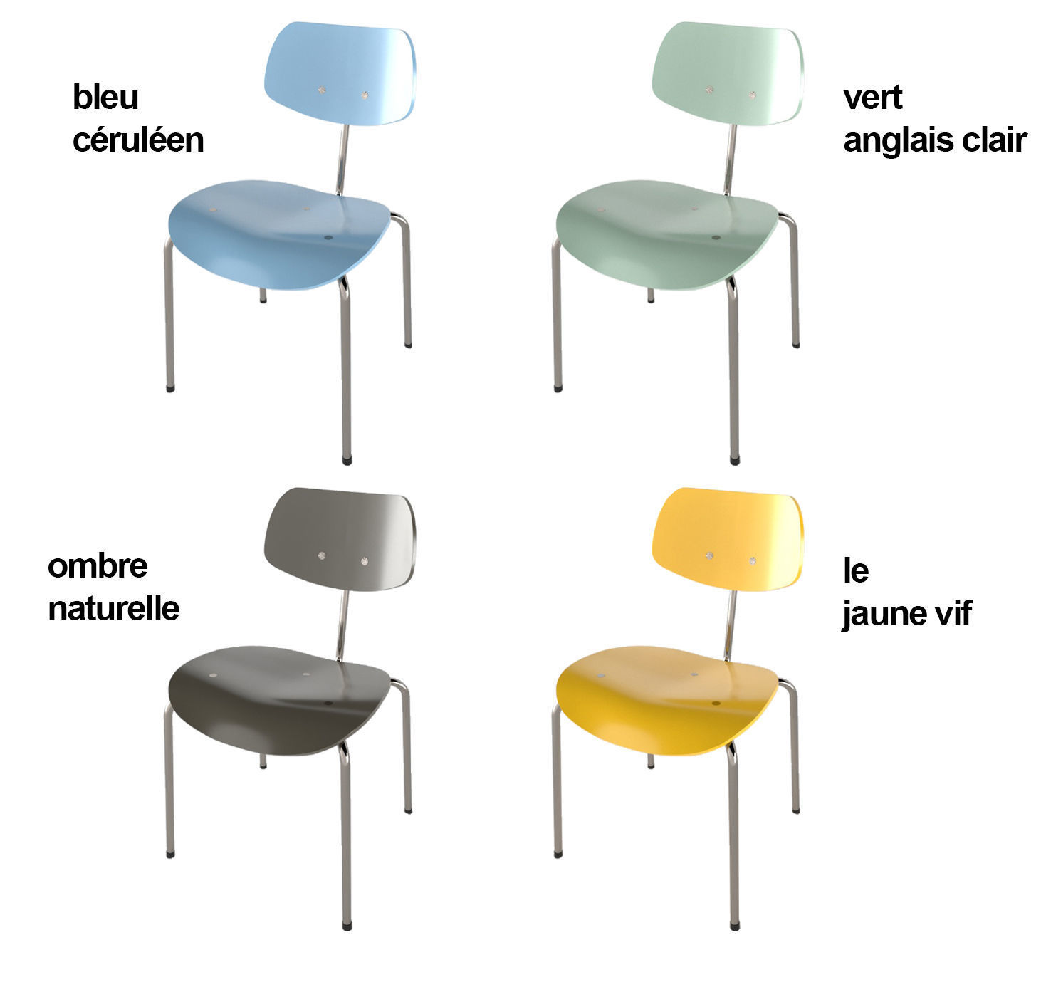 Egon Eiermann Wilde Spieth Chairs By Egon Eiermann Le Corbusier Colours 3d Model