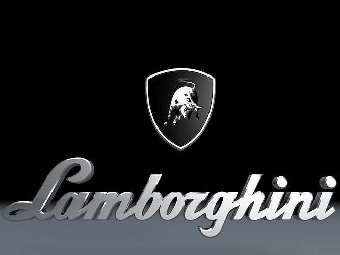 Wallpaper Speed Car Lamborghini Logo 3d Model Car Cgtrader