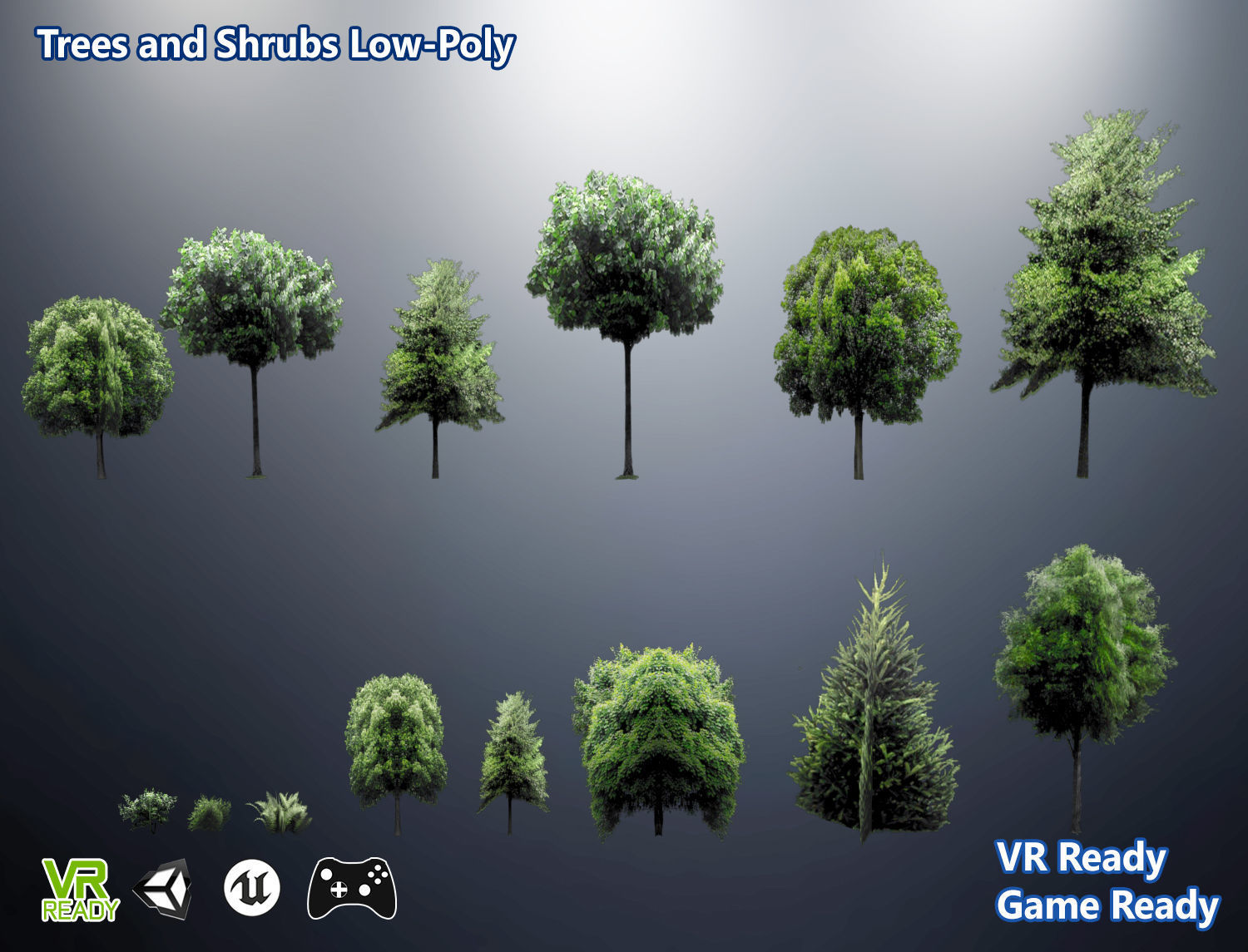 Trees And Shrubs Trees And Shrubs Low Poly 3d Model