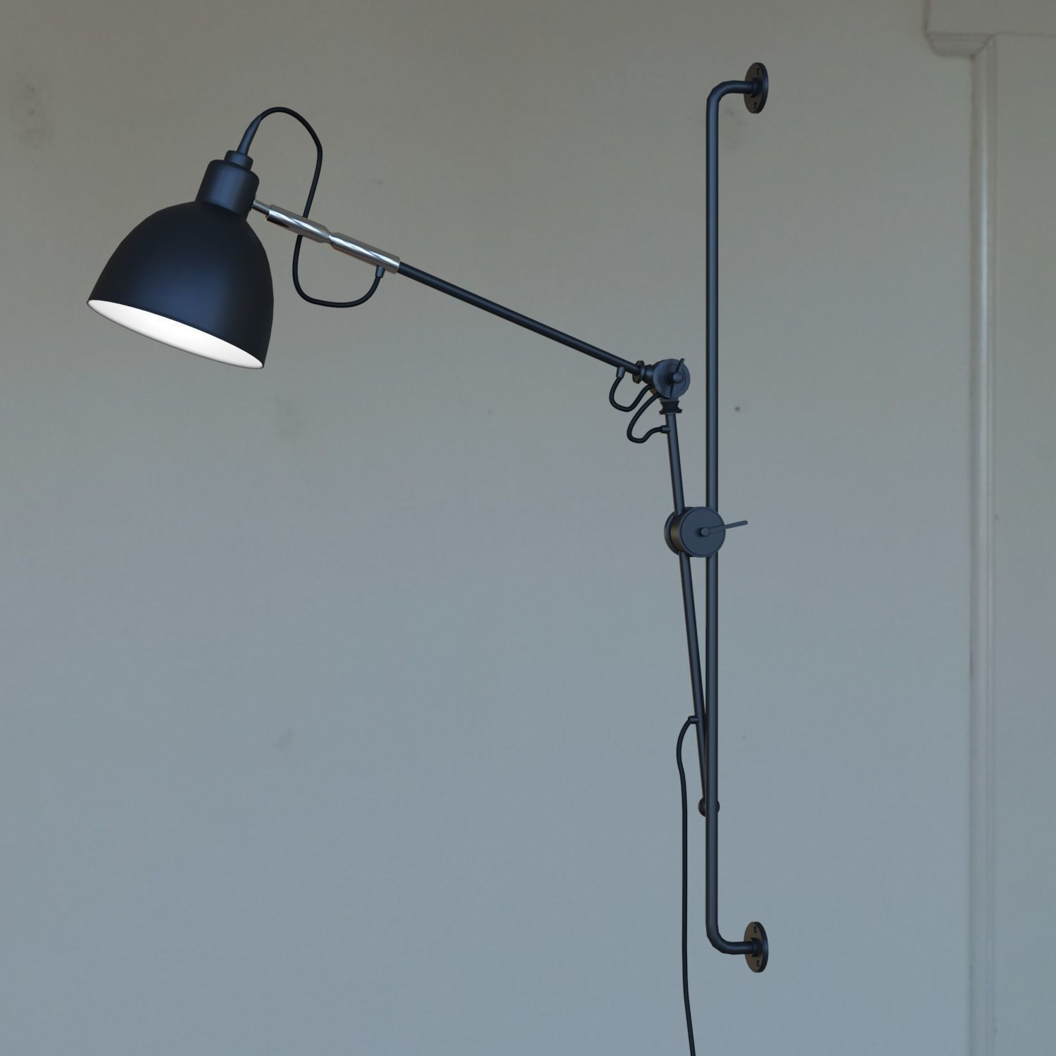 Industrial Swing Arm Lighting Newrays Adjustable Antique Industrial Swing Arm Wall Lamp 3d Model