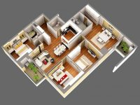 3D Model Detailed House Cutaway View | CGTrader