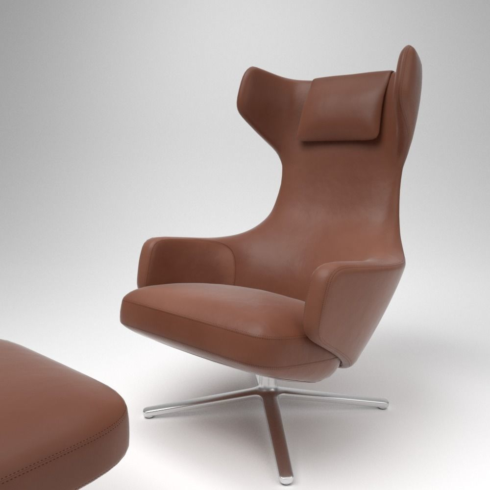 Vitra Grand Repos Vitra Grand Repos Leather Chair Blender Cycles 3d Model