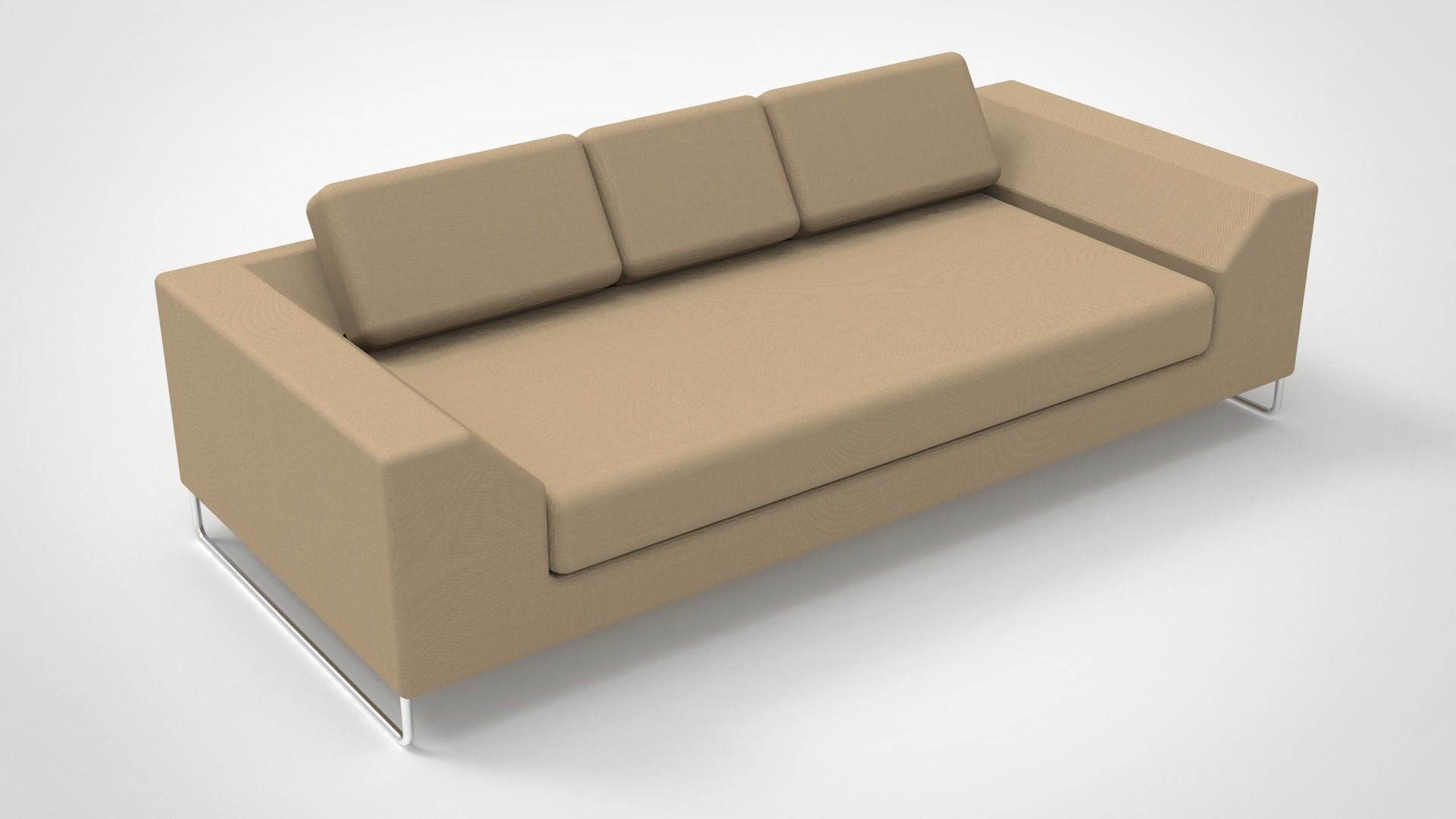 Design Couch Design Sofa With Pipe Legs 3d Model