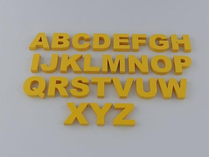 Printable 3d Alphabet Letters - C # ile Web\u0027 e Hükmedin!