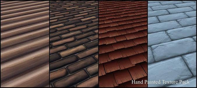 3D Hand Painted Texture Pack CGTrader