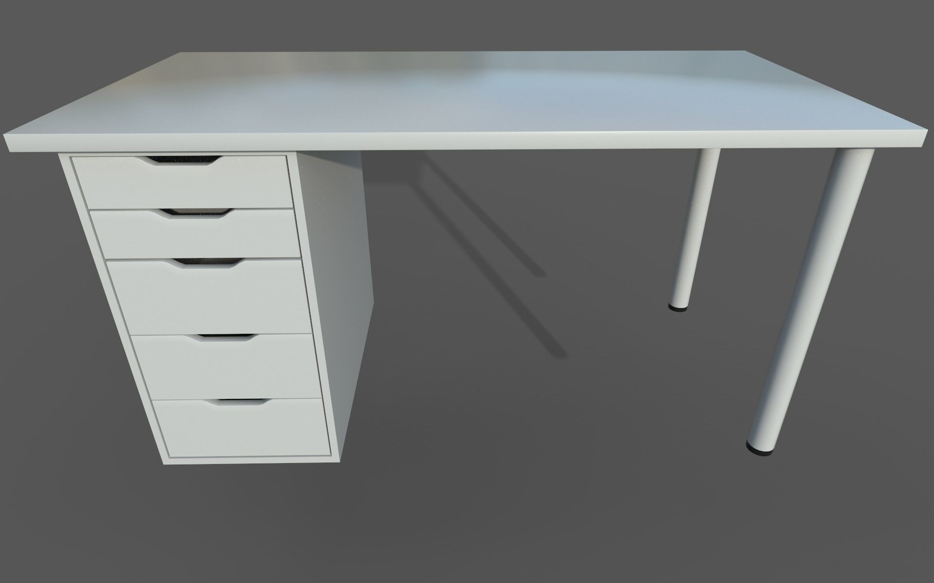 Linnmon Ikea Linnmon Alex Work Desk 3d Model