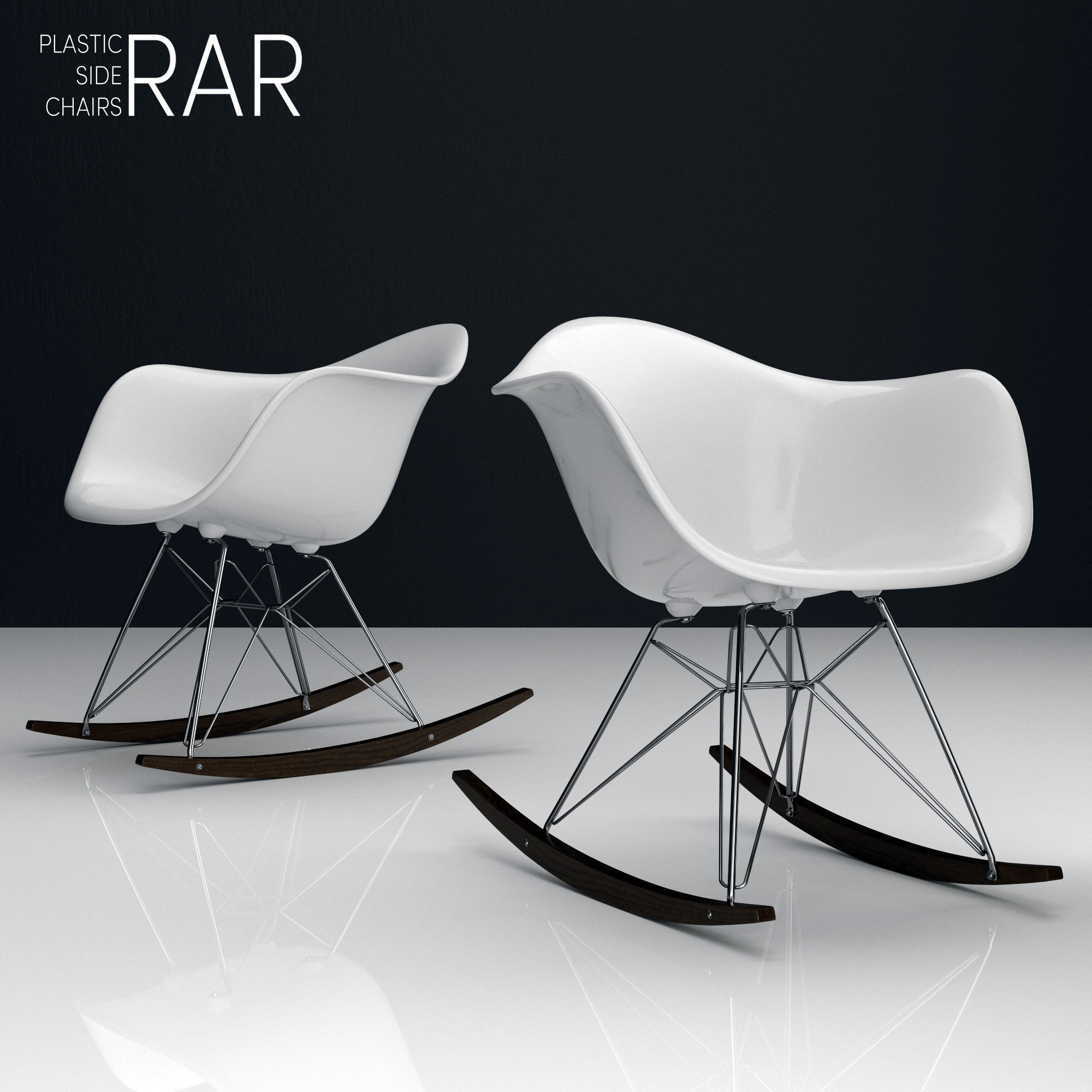 Eames Rar Eames Rar Plastic Side Chairs 3d Model