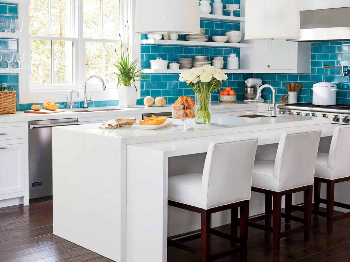 Blue In Kitchen Update Your Kitchen With Color Cooking Light