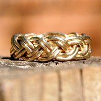 14 Karat Solid Gold Braided Ring Size 7 Patiently Waiting