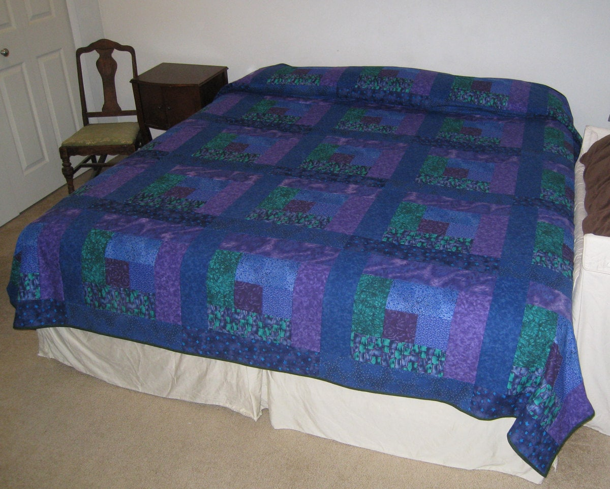 King Quilt Size Ocean Blue Green Purple King Size Quilt