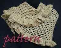 CROCHET RUFFLE SHAWL PATTERN | Crochet Patterns Only