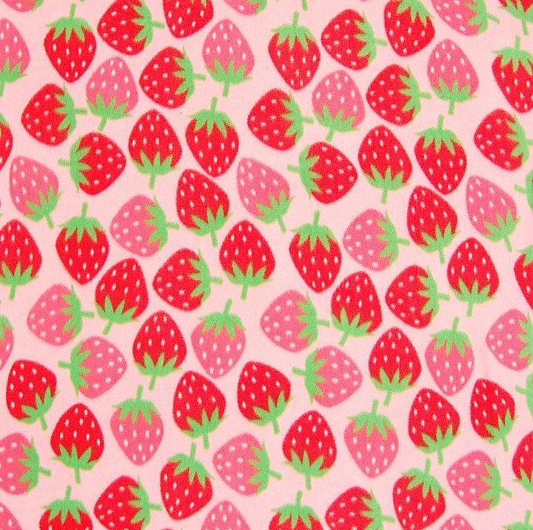 Make Your Own Iphone 5 Wallpaper Strawberry Print Fleece No Sew Blanket