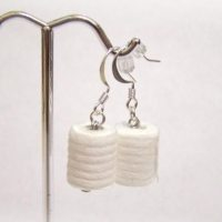 Novelty Toilet Paper Earrings