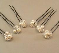 Cream Pearl Wedding Hair Accessories Bridal Hairpins Bridal