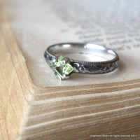 Peridot Gemstone Engagement Ring Promise Ring by ...