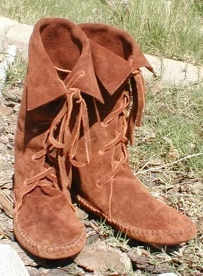 Elf Boots Handmade Lace Up Moccasin Boots Mid Calf 11
