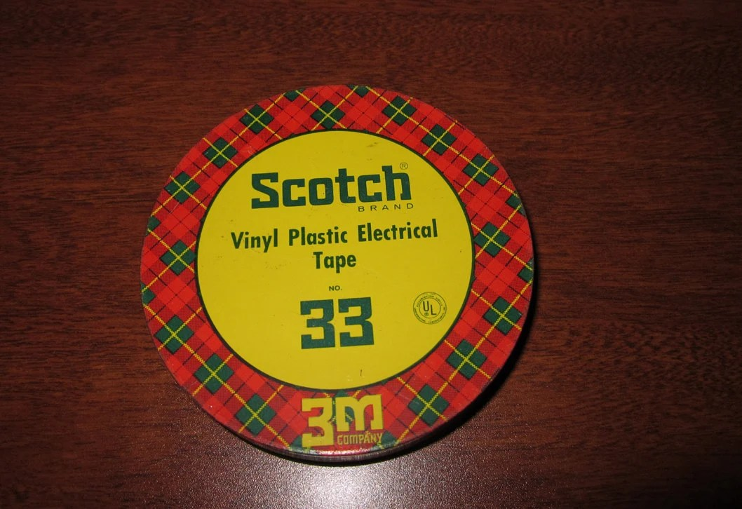 Scotch 3m Vintage Scotch Electrical 3m Tape No 33 Tin Industrial Case