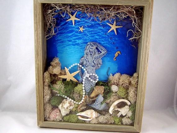 Items Similar To Mermaid Shadow Box Mermaid Wall Art